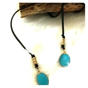 Jewelry - Black and blue Choker/Black Wrap Choker